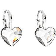 EVOLUTION GROUP 31240.1 visací srdce dekorované krystaly Swarovski® (925/1000, 1,4 g, bílé)