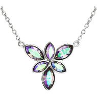 EVOLUTION GROUP 32047.5 Paradise Shine Flower Decorated with Swarovski® Crystals (925/1000, 3g, Blue) - Necklace