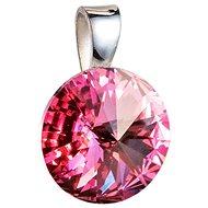 EVOLUTION GROUP 34112.3 kulatý-rivoli dekorovaný krystaly Swarovski® (925/1000, 1 g, růžový) - Přívěsek
