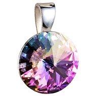 EVOLUTION GROUP 34112.5 kulatý-rivoli dekorovaný krystaly Swarovski® (925/1000, 1 g, fialový) - Přívěsek