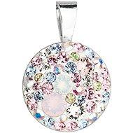 EVOLUTION GROUP 34225.3 magic rose kulatý dekorovaný krystaly Swarovski® (925/1000, 1 g, mix barev)