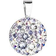 EVOLUTION GROUP 34225.3 violet kulatý dekorovaný krystaly Swarovski® (Ag925/1000, 0,7 g, fialový)