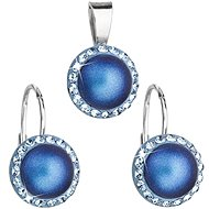 EVOLUTION GROUP 39091.3 Dark Blue Set Decorated Swarovski® Crystals (925/1000, 2g) - Jewellery Gift Set