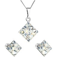 EVOLUTION GROUP 39126.3 light sapphire set decorated with Swarovski® crystals (925/1000, 2 g) - Jewellery Gift Set