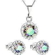 EVOLUTION GROUP 39152.5 Shine Turquoise Paradise Set Decorated Swarovski® Crystals (925/1000, - Jewellery Gift Set