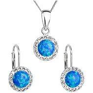 EVOLUTION GROUP 39160.1 zelený synt. opál souprava dekorovaná krystaly Swarovski® (925/1000, 2 g) - Dárková sada šperků
