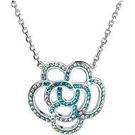 EVOLUTION GROUP 32017.5 magic indicolite náhrdelník dekorovaný krystaly Swarovski® (925/1000, 5 g) - Náhrdelník