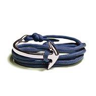 LAVALIERE Pánský s kotvou 454260-BZ - modrý silný provázek, kotva - Náramek