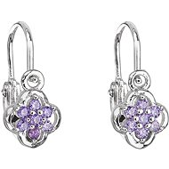 EVOLUTION GROUP 11177.3 Purple Zircon (925/1000, 1.2g) - Earrings