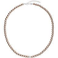 EVOLUTION GROUP 32063.3 perlový, dekorovaný krystaly Swarovski® ( 925/1000, 1 g, hnědý) - Náhrdelník