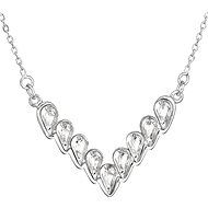 EVOLUTION GROUP 32067.1 Crystal Necklace Decorated with Swarovski® Crystals (925/1000, 3.7g, white) - Necklace