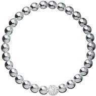 EVOLUTION GROUP 33115.3 perlový, dekorovaný krystaly Swarovski® (šedý) - Náramek