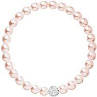 EVOLUTION GROUP 33115.3 perlový, dekorovaný krystaly Swarovski® (růžový) - Náramek