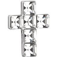 EVOLUTION GROUP 34236.1 křížek, dekorovaný krystaly Swarovski® (Ag925/1000, 0,9 g, bílý)