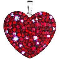 EVOLUTION GROUP 34243.3 srdce cherry dekorované krystaly Swarovski® (Ag925/1000, 2 g, červené) - Přívěsek