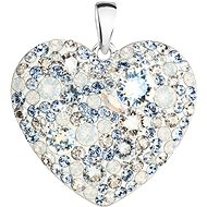 EVOLUTION GROUP 34243.3 srdce light sapphire dekorované krystaly Swarovski® (Ag925/1000, 2 g, modré)