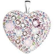 EVOLUTION GROUP 34243.3 srdce magic rose dekorované krystaly Swarovski® (Ag925/1000, 2 g, mix barev)