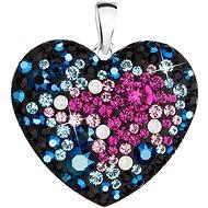 EVOLUTION GROUP 34243.4  srdce galaxy dekorované krystaly Swarovski® (Ag925/1000, 2 g, mix barev)