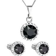 EVOLUTION GROUP 39352.3 černá s krystaly Swarovski® (stříbro 925/1000; 3 g) - Dárková sada šperků