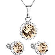 EVOLUTION GROUP 39352.3 It. colorado topaz s krystaly Swarovski® (stříbro 925/1000; 3 g) - Dárková sada šperků
