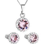 EVOLUTION GROUP 39352.3 lt. rose s krystaly Swarovski® (stříbro 925/1000; 3 g) - Dárková sada šperků