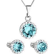 EVOLUTION GROUP 39352.3 lt. turquoise s krystaly Swarovski® (stříbro 925/1000; 3 g) - Dárková sada šperků