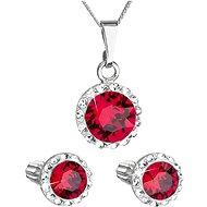 EVOLUTION GROUP 39352.3 ruby s krystaly Swarovski® (stříbro 925/1000; 3 g) - Dárková sada šperků
