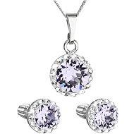 EVOLUTION GROUP 39352.3 violet s krystaly Swarovski® (stříbro 925/1000; 3 g) - Dárková sada šperků