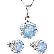 EVOLUTION GROUP 39352.7 modrá opál s krystaly Swarovski® (stříbro 925/1000; 3 g) - Dárková sada šperků