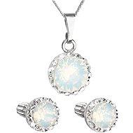 EVOLUTION GROUP 39352.7 bílá opál s krystaly Swarovski® (stříbro 925/1000; 3 g) - Dárková sada šperků