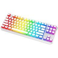 SPC Gear GK630K Onyx White Tournament Kailh Blue - US - Herní klávesnice