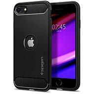Spigen Rugged Armor Black iPhone SE 2020 - Kryt na mobil