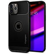 Spigen Rugged Armor Black iPhone 12/iPhone 12 Pro - Kryt na mobil
