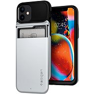 Spigen Slim Armor Wallet Silver iPhone 12 mini - Kryt na mobil