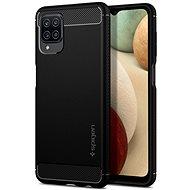 Spigen Rugged Armor Black Samsung Galaxy A12 - Kryt na mobil