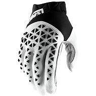 Cyklistické rukavice 100% AIRMATIC USA černá/bílá/stříbrná