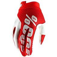 100% ITRACK,  -USA červená/bílá - Cyklistické rukavice