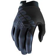 100% ITRACK,  -USA černá/šedá - Cyklistické rukavice
