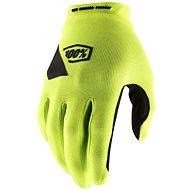 100% RIDECAMP USA fluo žlutá - Cyklistické rukavice