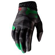 100% RIDEFIT,  army zelená/černá - Cyklistické rukavice