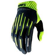 100% RIDEFIT,  fluo zelená/černá - Cyklistické rukavice