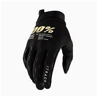 100% iTRACK USA černá/zlatá - Cyklistické rukavice