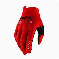Cyklistické rukavice 100% iTRACK USA červená
