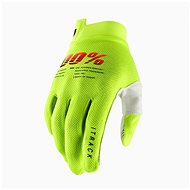 100% iTRACK USA fluo zelená - Cyklistické rukavice