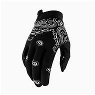100% iTRACK USA černá/bílá - Cyklistické rukavice