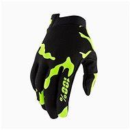 100% iTRACK USA černá/fluo zelená - Cyklistické rukavice
