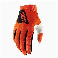 Cyklistické rukavice 100% iTRACK USA oranžová
