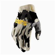 100% iTRACK USA šedá/camo - Cyklistické rukavice