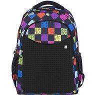 Pixie crew PXB-06 multibarevná černá - Školní batoh