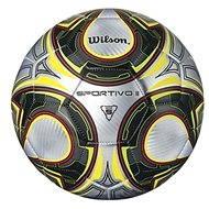 Wilson Sportivo II Sb Silver black yellow Size 5 - Fotbalový míč